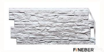 Фасадные панели Файнбер скала белый
