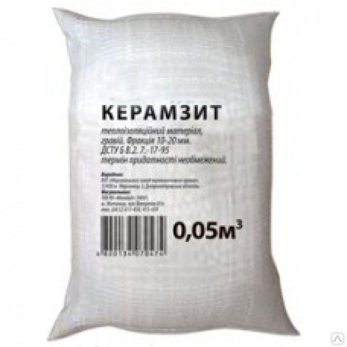 объем керамзита в мешке